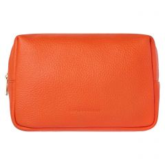 Glyndebourne Organ Room Orange Leather Wash Bag
