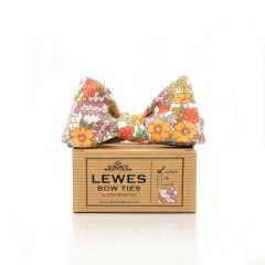 Orange and Lilac Bow Tie