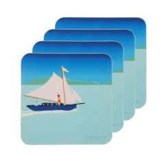 'Out of Blue' Set of 4 Coasters by Tom Hammick