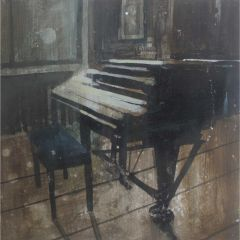 Piano in the old green room by Julian Sutherland-Beatson