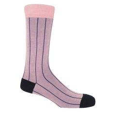 Pink Pin Stripe Socks