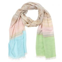 Pink Striped Shawl