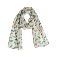 Plume Oyster Pure Silk Scarf