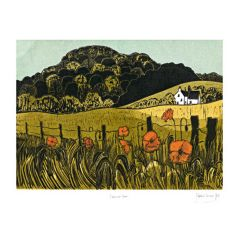 Poppies & Downs Greetings Card