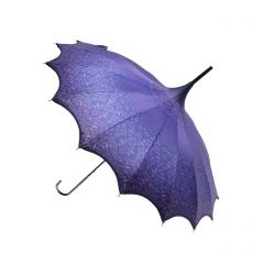 Purple Patterned Pagoda Umbrella