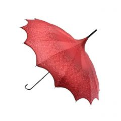 Red Patterned Pagoda Umbrella