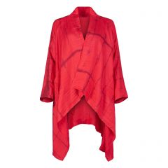 Red Tie-dye Silk Gil Coat