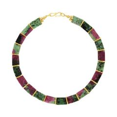 Ruby Zoisite Collar Necklace