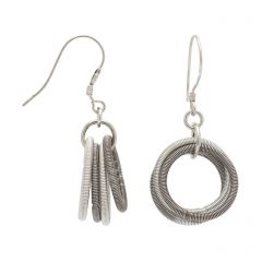 Silver and Grey Odessa Earrings