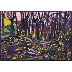 Shropshire Hills through the Trees by Christabel Forbes