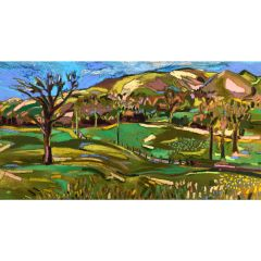 Shropshire Hills with Farmland by Christabel Forbes