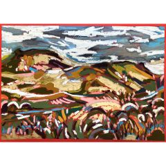 Snowy Shropshire Hills by Christabel Forbes