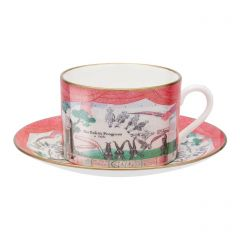 'Drop Curtain' Teacup and Saucer by David Hockney