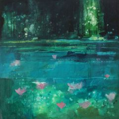 Turquoise Lake with Lilies by Julian Sutherland-Beatson