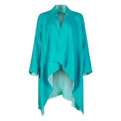 Turquoise Silk Gil Coat