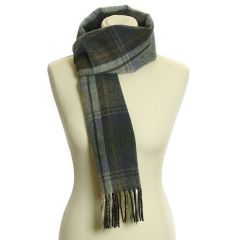 Lambswool Scarf with Rolled Fringe: Country Check Westray