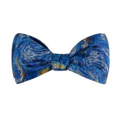 Van Gogh Starry Night Silk Self-Tie Bow Tie