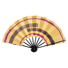 Vintage Japanese Fan - Purple Waves