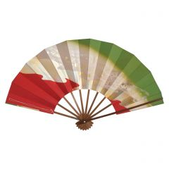 Vintage Japanese Fan - Red & Green