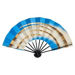 Vintage Japanese Fan - Blue & Gold