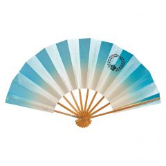 Vintage Japanese Fan - Blue Ombre