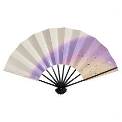 Vintage Japanese Fan - Purple Ombre