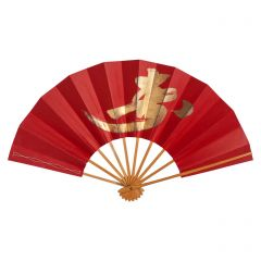 Vintage Japanese Fan - Gold Symbol