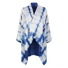 Navy Tie-dye Silk Gil Coat