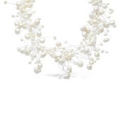 White Freshwater Pearl Floating Necklace