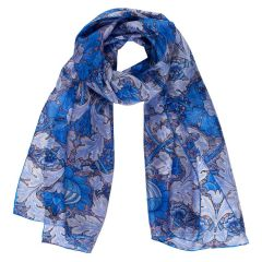 William Morris Blue St. James Silk Scarf