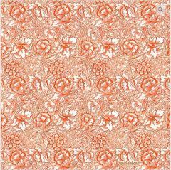 William Morris Pink & Poppy Pocket Square